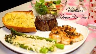 Valentines Dinner For Two ~ Filet Mignon & Sea Scallops Recipe