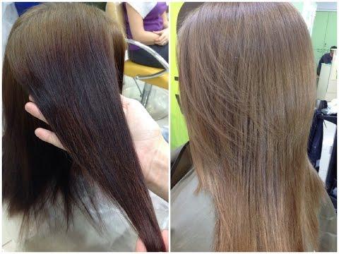 СМЫВКА ЧЕРНОГО ЦВЕТА волос // Окрашивание в натуральный цвет // CLEANING OF BLACK COLOR from hair