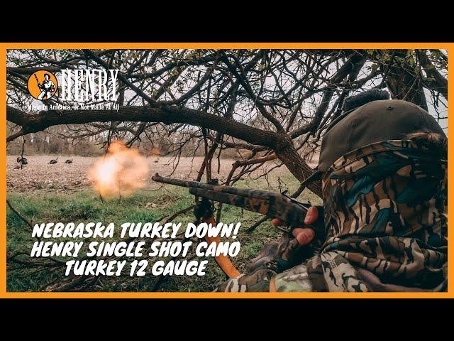 Nebraska Turkey Hunting! Henry 12 Gauge Single Shot Camo Turkey Shotgun.