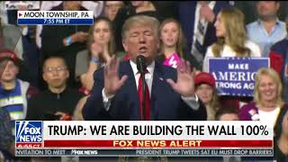 In Pennsylvania, Trump offers barely coherent commentary about wall