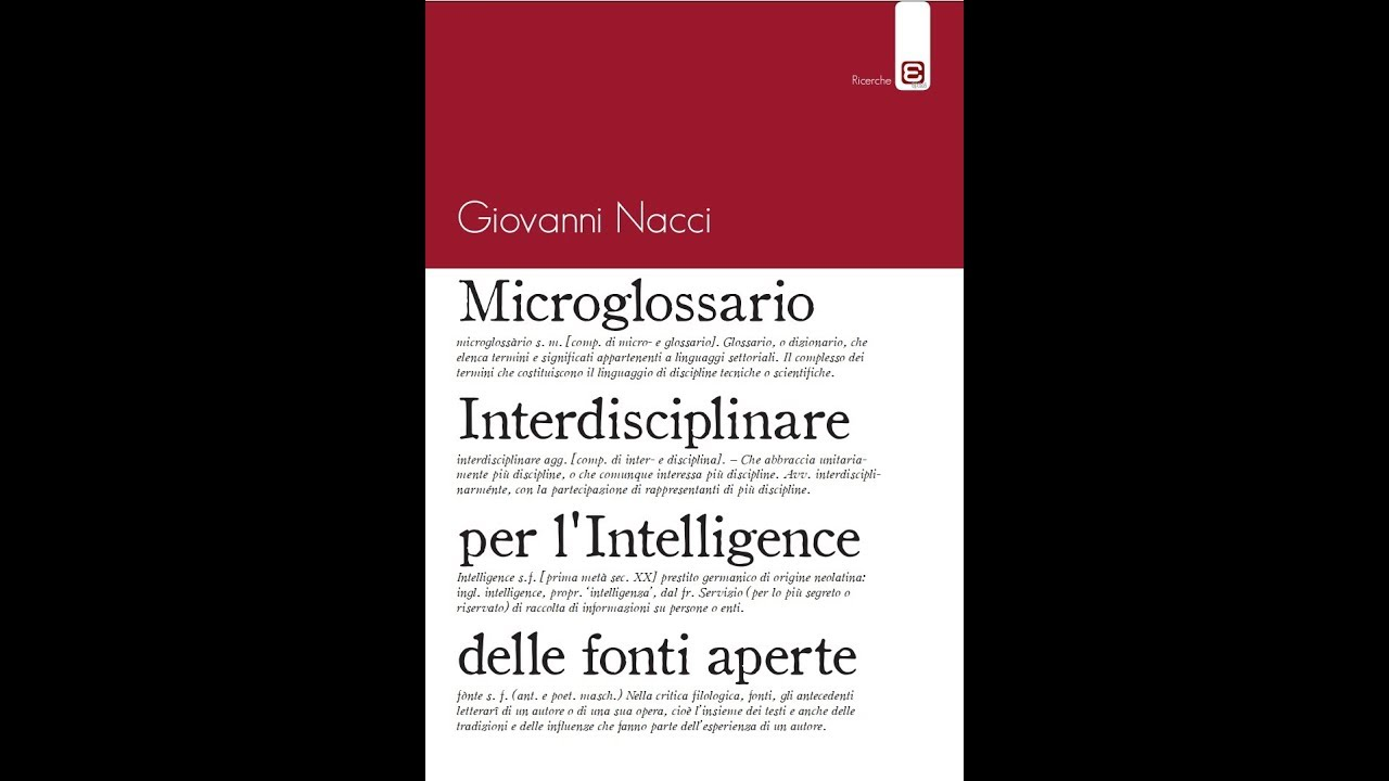 Il Microglossario come interfaccia inter-infra disciplinare