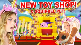 *NEW* TOY SHOP And SQUIRREL PET In Adopt Me! (Roblox)