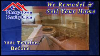 Before and After Sharpstown Realty Renovates a home
