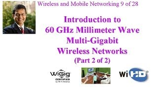 Part 2 of Audio/Video recording of a class lecture by Prof. Raj Jain on Introduction to 60 GHz Millimeter Wave Gigabit Wireless Networks. The talk covers &qu...