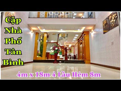 Nhà bán Tân Bình. Thăm quan cặp nhà 4m x 18m thiết kế và trang trí nội thất Khủng nhất quận Tân Bìn