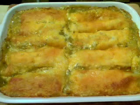 "Chicken Enchiladas ""Verde"" – Because that's how I roll"