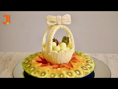 My Trick to Cut Melon and Make a Beautiful Basket | Art With Fruit