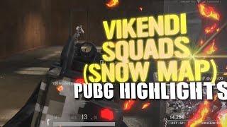 Squads on NEW MAP VIKENDI - PUBG STREAM HIGHLIGHTS