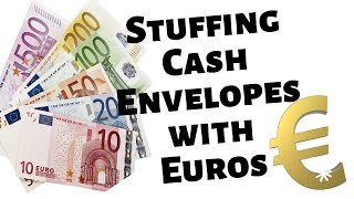 EUROS*CASH ENVELOPE STUFFING WITH FOREIGN CURRENCY* #euros #amsterdam #traveltips #solotravel