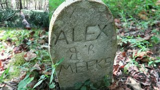 Hidden Graveyard In The Appalachian Forest