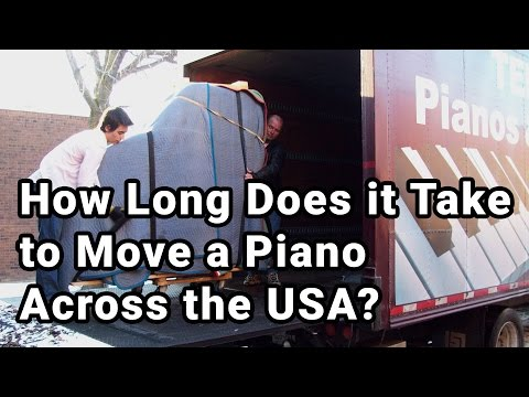 How Long Does it Take to Move a Piano Across the USA?