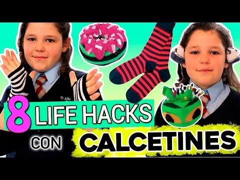 8 Life Hacks con CALCETINES * Ideas para RECICLAR tus calcetines viejos