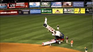 preview picture of video 'Richmond Flying Squirrels Human Cannonball'