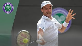 Roberto Bautista Agut vs Guido Pella Wimbledon 2019 quarter-final highlights