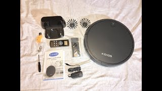 KOIOS Robotic Vacuum Cleaner, Unboxing, Operation and Review