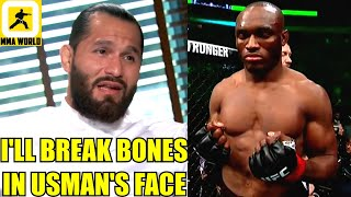 Jorge Masvidal says he'll END Kamaru Usman in a very violent way on April 24 at UFC 261,Whittaker,KG