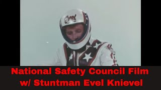 MOTORCYCLE STUNTMAN EVEL KNIEVEL    CHEVROLET AUTO PARTS SALES FILM  94754b