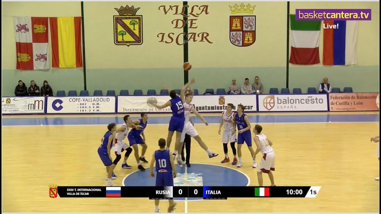 Live - U16M - RUSIA vs ITALIA - Torneo Internacional Cadete Íscar 2019 (BasketCantera.TV)