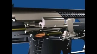 AK 47 FIRING MECHANISM 3D ANIMATION
