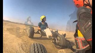 preview picture of video 'Sde boker tandem kite buggy avi'