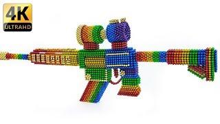 DIY - How To Make Rainbow PUBG M416 Gun With Magnetic Balls - ASMR 4K - Magnet Balls
