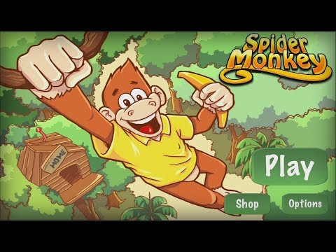 Spider Monkey: Slide and Jump! - Top Free Games Jungle 1-8 Walkthrough