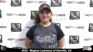 2022 Meghan Lawrence Pitcher and First Base Softball Skills Video - Eastbay Fastpitch