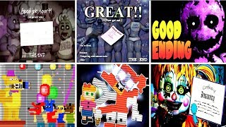 Five Nights at Freddy's 6 All Endings FNAF 1 2 3 4 5 - dooclip.me