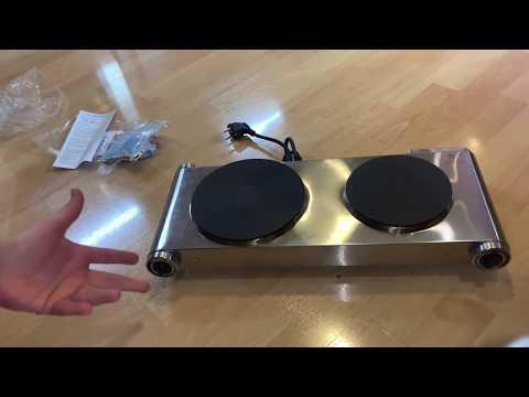 SUNAVO Doppel-Kochplatte 2 elektrisch doppel Kochfelder Herdplatte 1500 Watt unboxing und Anleitung