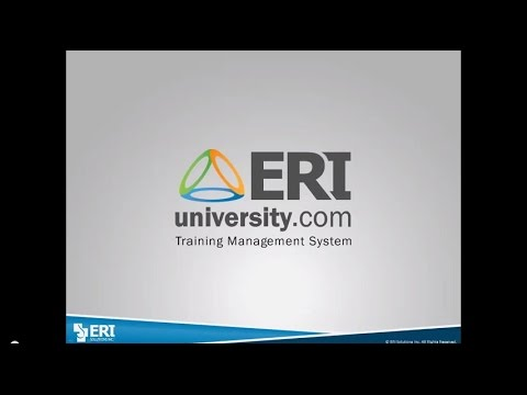 ERI University – Online Training Management