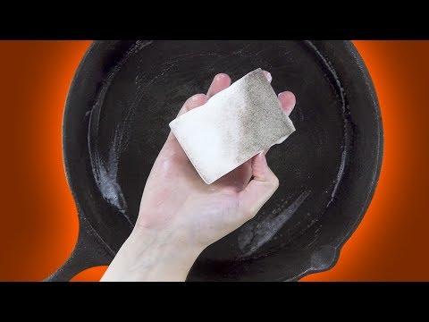 Der Hammer: Pack 4 Dinge in eine Frischhaltedose und hole sie beim Abwaschen wieder heraus.