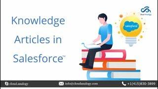 Webinar   Knowledge Articles in salesforce   Cloud Analogy (2020)