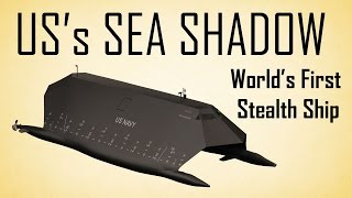 US's Sea Shadow : World's first  Stealth Ship in 3D
