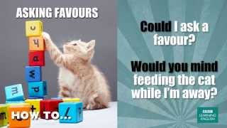 How to ask a favour