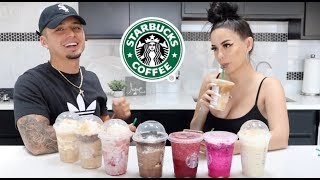 TRYING OUR SUBSCRIBERS FAVE STARBUCKS DRINKS
