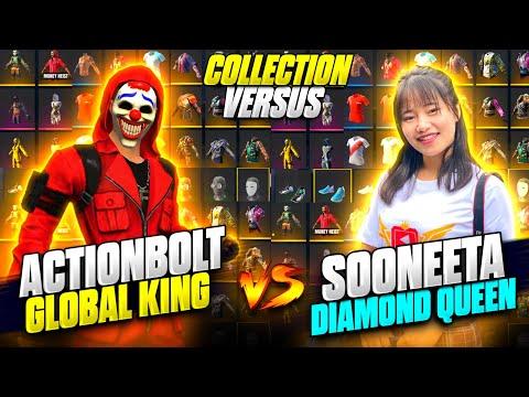 Sooneeta(Diamond Queen😮) Vs Actionbolt  Funnist Collection Versus-Richest Freefire Player