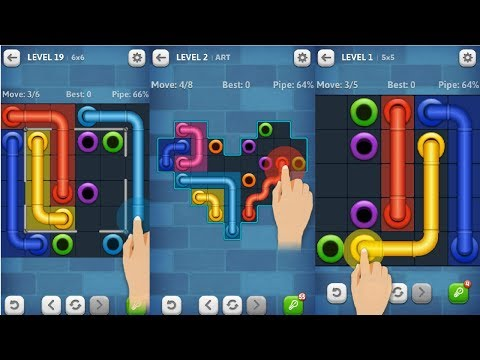 Line Puzzle: Pipe Art Android Gameplay