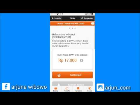 Video Cara Mendapatkan Pulsa Gratis All Operator Dari Zipay 100% Work