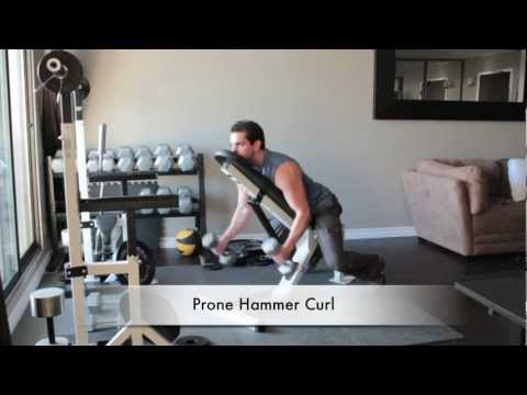 Dumbbell Arm Exercises - Prone Hammer Curl