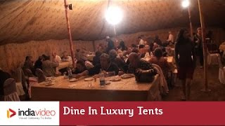 Dine in luxury tents of Allahabad