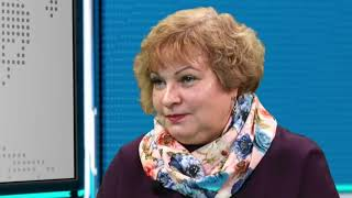 Директор центральной библиотеки Наталья Якимова в студии ТК «Телекон»