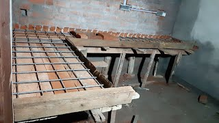 Amazing Kitchen Cooking Table Install With Concrete-using By Bars And Mixer Concrete Construction