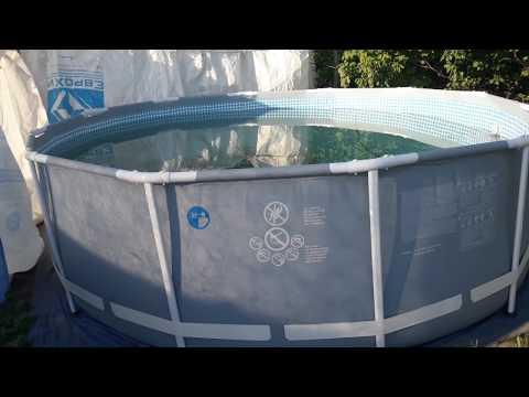 Как просто и быстро очистить дно бассейна  Intex (Bestway) !