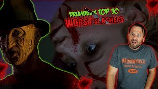 Drumdums Top 10 WORST SLASHER Movies (I'm Going to Throw Up!)