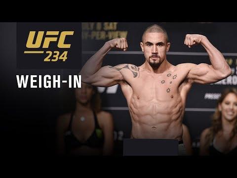La pesée de l'UFC 234 en direct