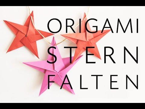 Origami Stern falten - Faltanleitung - Talu.de