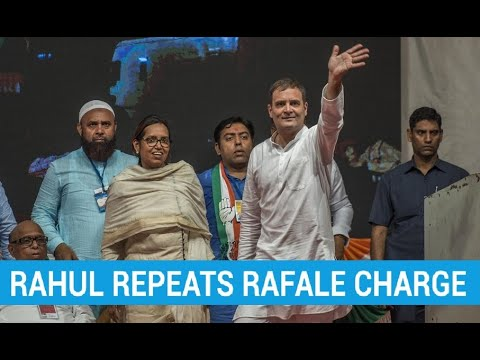 Rahul Gandhi repeats Rafale scam charge ahead of Maharashtra polls