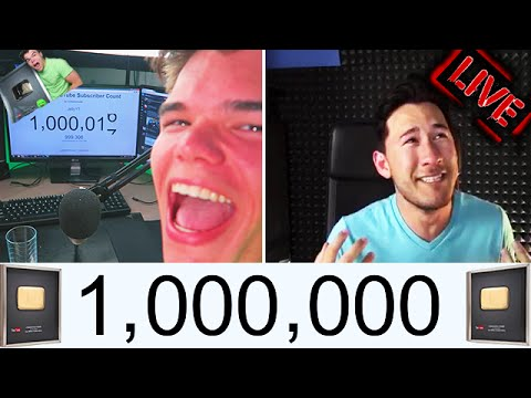 Youtubers Hitting One Million Subscribers Live Reactions Compilation!!