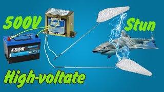 12V to 500V hight volt inverter STUN FISH SHOCK simply   How to make