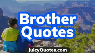 Top 15 Brother Quotes And Sayings 2020 - (That You Will Like)